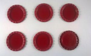 БРАК Крышка. Материал - металл. Внутренний диаметр 25 мм, наружный - 31 мм, цвет №45 . (1 уп. = 24 шт)