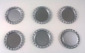 Крышка. Материал - металл. Внутренний диаметр 25 мм, наружный - 31 мм, цвет №43 . (1 уп. = 24 шт)