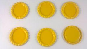 Крышка. Материал - металл. Внутренний диаметр 25 мм, наружный - 31 мм, Цвет №37 (1 уп. = 24 шт)