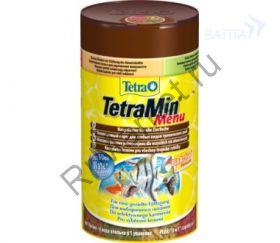 """TetraMenu корм для всех видов рыб """"4 вида"""" мелких хлопьев"""