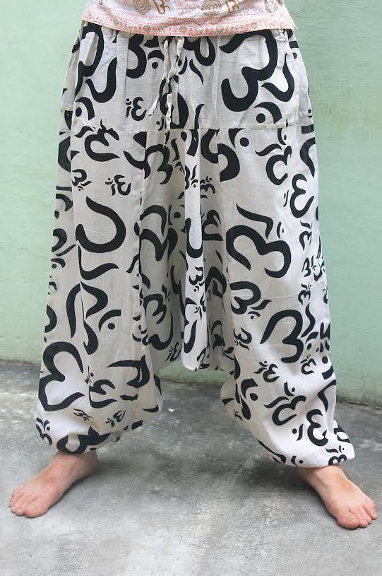Мужские штаны алладины Символ ОМ (унисекс)