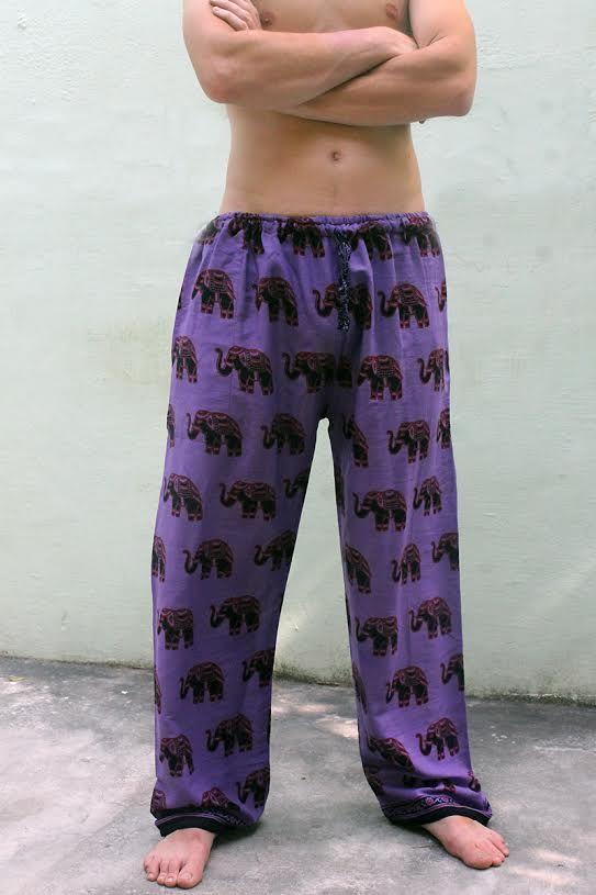 БЕЛЫЕ Легкие индийские штаны со слонами (Москва)