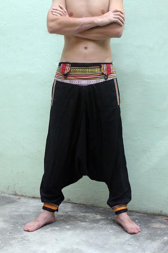 Непальские штаны афгани с карманами на поясе, унисекс (отправка из Индии)