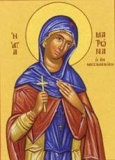 Матрона Солунская (рукописная икона)