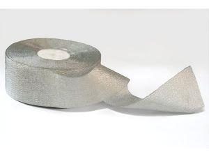 `Лента, парча, ширина 50 мм, цвет серебро