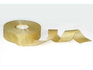 `Лента, парча, ширина 25 мм, цвет золото