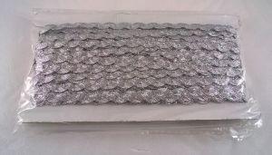 `Тесьма вьюнчик, ширина 5 мм, цвет: серебро