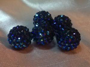 "`Бусины ""Шамбала"", пластик, диаметр 18 мм, цвет синий"