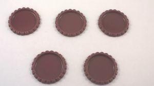 `Крышка, металл, внутренний диаметр 25 мм, наружный 31 мм, цвет №33