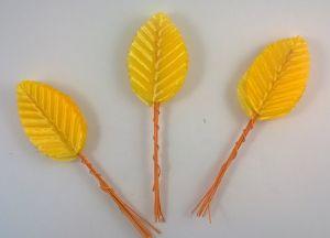 `Листик. 10 см. Цвет желтый, 10 шт