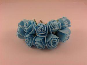 `Цветы из фоамирана, диаметр 25 мм, цвет голубой, 1 уп = 11-12 шт