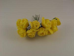 `Цветы из фоамирана, 25 мм, 11-12 цветков, цвет: желтый