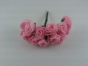`Цветы из фоамирана, 25 мм, 11-12 цветков, цвет: светло-розовый