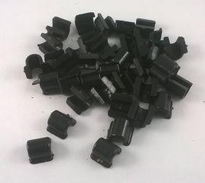 `Скобка для резинки, пластик, длина 4 мм, цвет черный, 10 шт