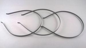 `Ободок-основа, металл, ширина 5 мм, цвет черный