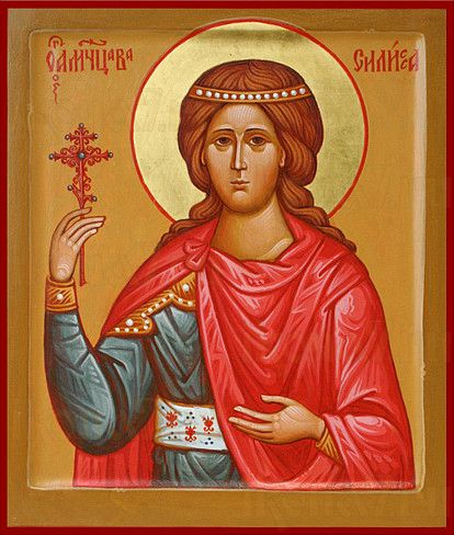 Икона Василиса Никомидийская (рукописная)