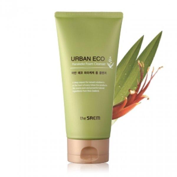 The Saem Корейская увлажняющая пенка для умывания Urban Eco Harakeke Foam Cleanser 150 гр.