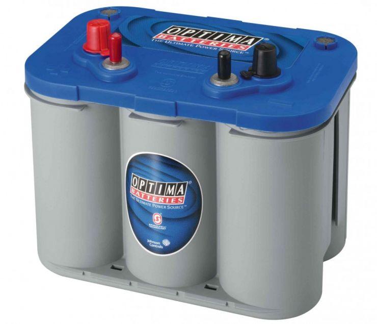 Лодочный аккумулятор OPTIMA (Оптима) Blue Top DC 4.2 55Ач п.п.