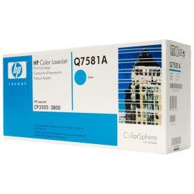 HP Q7581A Картридж оригинальный , Cyan (6000стр.)
