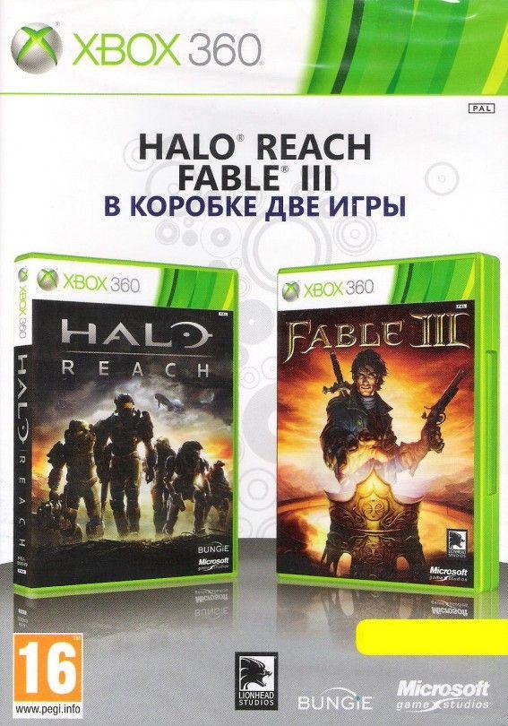 Игра Halo Reach + Fable III (в коробке 2 игры) (Xbox 360)
