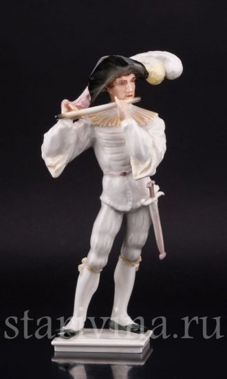 Фарфоровая статуэтка Музыкант производства Hutschenreuther, Германия