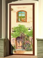 Наклейка на дверь - 1840 | магазин Интерьерные наклейки