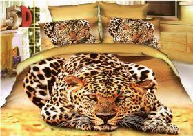 Постельное белье 3D Леопард, Сатин, 1,5 спальное