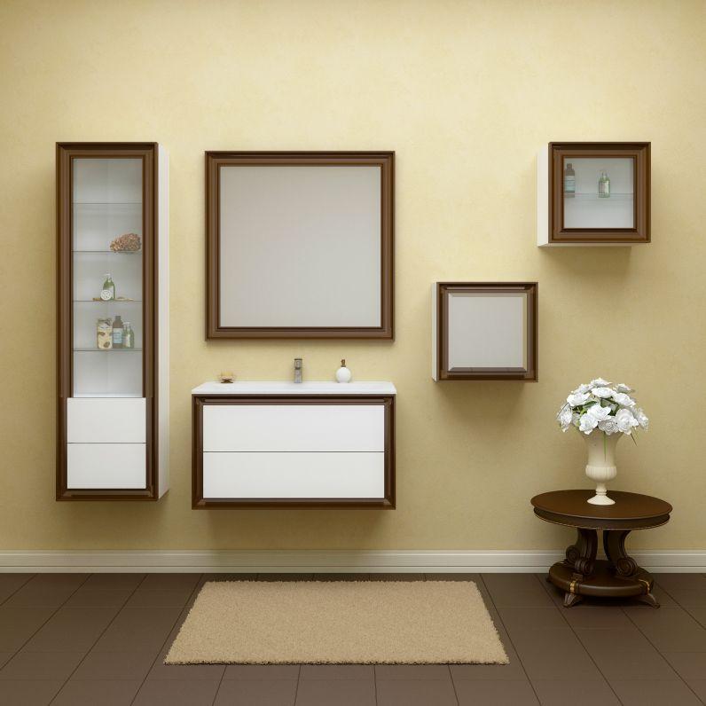 Комплект  мебели OPADIRIS КАПРИ 80 цвет белый глянцевый/ орех антикварный