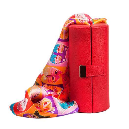 Набор подарочный для женщин Diplomat, Шкатулка для очков и шарф, Y6538-01003 RED-CH