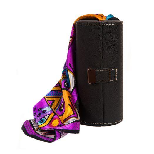 Набор подарочный для женщин Diplomat, Шкатулка для очков и шарф, Y6538-01002 Black-СН