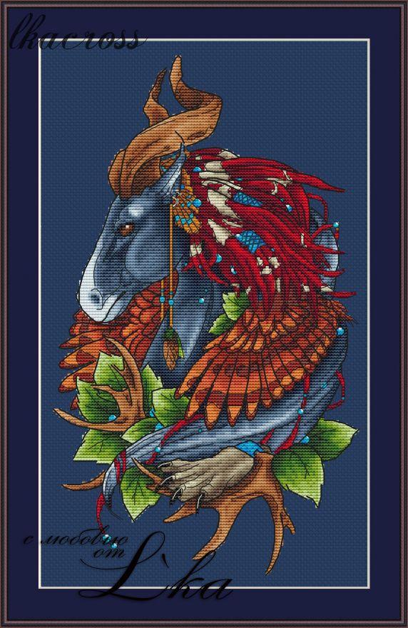 """""""Конь"""". Схема/набор для вышивания крестиком."""