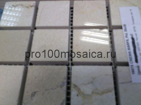 CREMA MARFIL Pol. 30x30. Мозаика серия STONE, размер, мм: 305*305*7 (ORRO Mosaic)