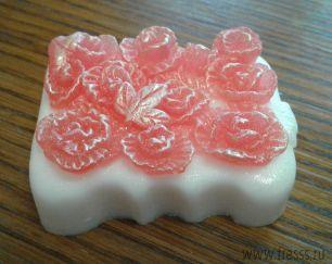 """Мыло ручной работы """"Розовые розы"""" 1 шт"""