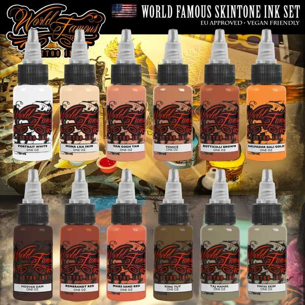 WORLD FAMOUS SKINTONE INK SET