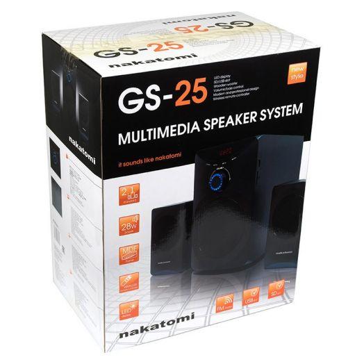 Мультимедийные колонки 2.1 Dialog Nakatomi GS-25 Black