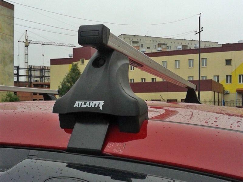 Багажник на крышу Hyundai Tucson TL 2015-..., Атлант, прямоугольные дуги