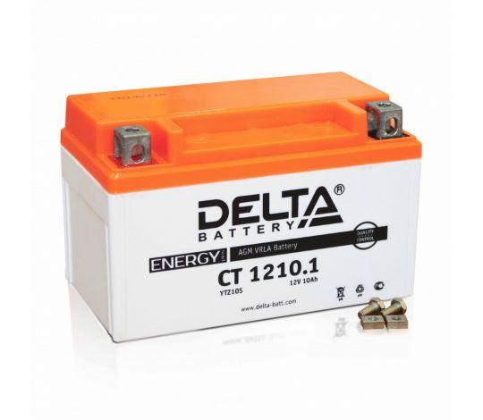 Мото аккумулятор АКБ Delta (Дельта) CT 1210.1 п.п. 10Ач YTZ10S
