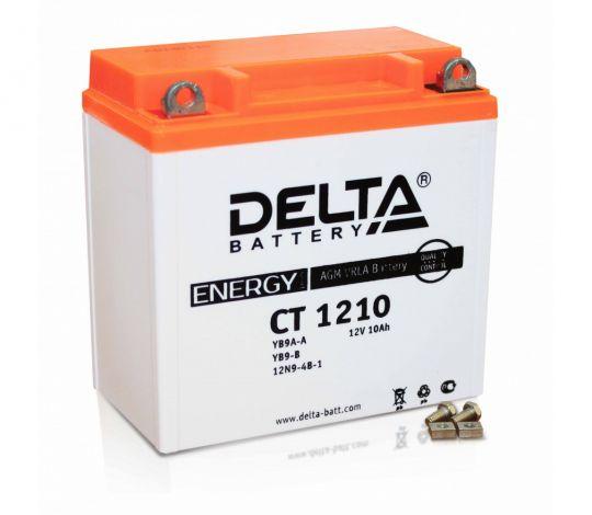 Мото аккумулятор АКБ Delta (Дельта) CT 1210 п.п. 10Ач YB9A-A, YB9-B