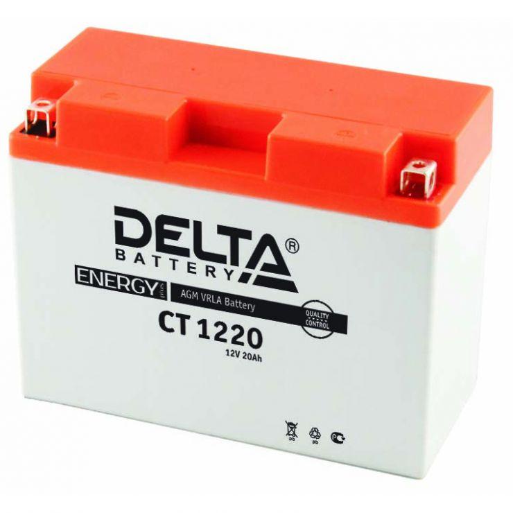 Мото аккумулятор АКБ Delta (Дельта) CT 1220 20Ач о.п. Y50-N18L-A, Y50-N18L-A3