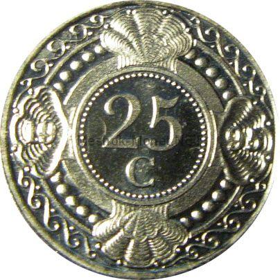 Антильские острова 25 центов 1989 г.