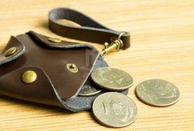 Кожаный кошелек для монет
