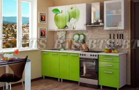 Кухонный гарнитур с фотопечатью «Яблоко» 1,8
