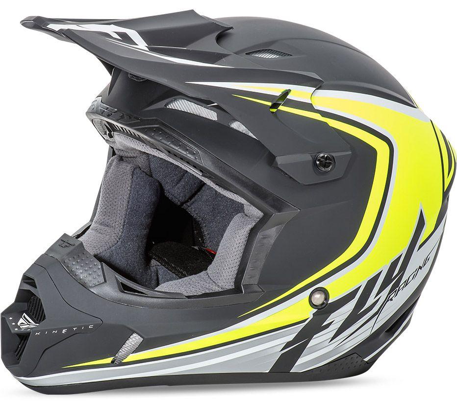 Fly - Kinetic Fullspeed шлем, матовый черно-желтый