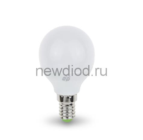Лампа СД LED-ШАР-STD 3.5ВТ Е14 3000К 320ЛМ ASD