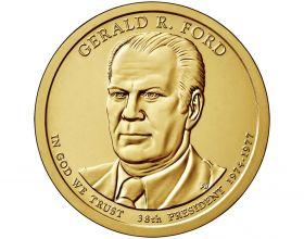 38 президент США Джеральд Р. Форд  1 доллар США 2016 монетный двор  на выбор