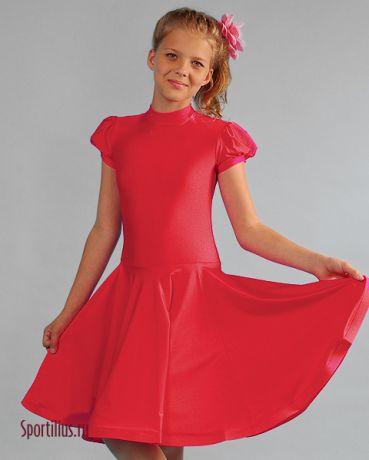 "Платье из бифлекса ""Жасмин"" красное"