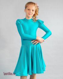 Бальное платье для танцев бирюзовое
