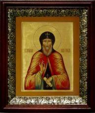 Нил Сорский (19х22), темный киот
