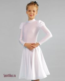 Бальное платье для танцев белое