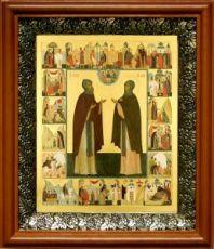 Кирилл и Мария Радонежские (19х22), светлый киот